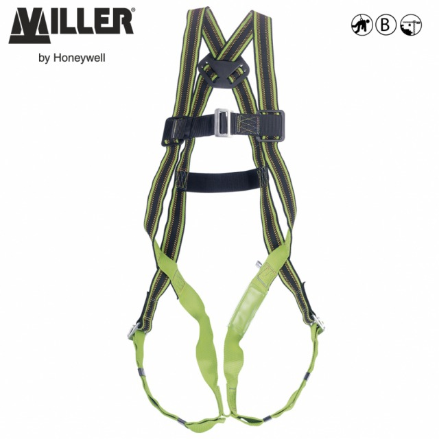 DuraFlex® MA02       <br/><br/>- 1 POINT Rear anchorages<br/><br/>- BENEFITS: Elasticated webbing • Greater comfort• Increase durability<br/><br/>FEATURES: Stretch webbing •  DuraFlex® elastomer webbing • Webbing repels water, oil, grease and dirt •  Manual chest and leg buckles<br/><br/>Ref. Size:<br/><br/>- 10 028 48 - S<br/><br/>- 10 028 47 - M/L<br/><br/>Conforms to EN361