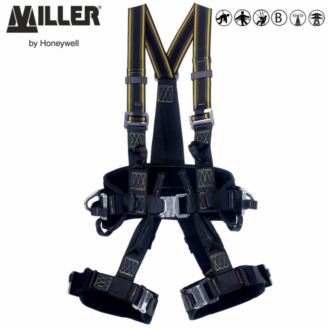 RM                       <br/><br/>The perfect compromise between freedom of movement and excellent support for suspension<br/><br/>- 3 POINT + workpositioning<br/><br/>Rear and sternal anchorage, ventral anchorage loops and workpositioning side anchorages<br/><br/>BENEFITS: Stretch webbing<br/><br/>• Greater freedom of movement<br/><br/>• Comfort with reduced fatigue<br/><br/>• Excellent support for work in suspension<br/><br/>FEATURES: Easy fitting<br/><br/>• Work positioning belt and sit harness function<br/><br/>• Elasticated webbing on shoulder straps<br/><br/>• Lightweight and easy-to-fit<br/><br/>• Quick connect buckles at legs and waist<br/><br/>• Padded belt and leg straps<br/><br/>Ref.                     Size<br/><br/>- 10 034 38  -  S<br/><br/>- 10 034 39  -  M/L<br/><br/>Conforms to EN361, EN358 and EN813