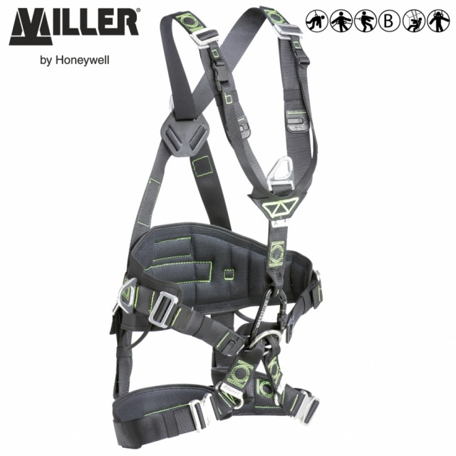 ROPAX                    <br/><br/>Innovation and technology dedicated to rope access and rescue combining suspension comfort with freedom of movement<br/><br/>BENEFITS: Perfect Fit<br/><br/>• Adjustment webbing straps between the leg straps and the belt<br/><br/>• V Shape prevents straps from digging and causing irritation<br/><br/>• Excellent lumber support and comfort<br/><br/>• Clip-on design safely organises webbing after proper adjustment<br/><br/>• Increased comfort in suspension<br/><br/>• Triangular suspension to minimise discomfort and suspension trauma<br/><br/>FEATURES: New triangular suspension position<br/><br/>• Shoulder straps in V shape<br/><br/>• Adjustable webbing sling<br/><br/>• Extra-wide padded belt<br/><br/>• Foldable side D-rings<br/><br/>• Web finials<br/><br/>• 3 large gear loops<br/><br/>• Left & right tags to facilitate donning<br/><br/>• Padded leg straps<br/><br/>An additional webbing sling positions the ascen der tight against the chest to facilitate ascension.<br/><br/>Ref.               Size<br/><br/>WITH AUTOMATIC BUCKLES<br/><br/>Black polyester webbing<br/><br/> - 10 144 32 - S/M<br/><br/>- 10 144 33 - L/XL<br/><br/>WITH MANUAL BUCKLES<br/><br/>Black polyester webbing<br/><br/>- 10 144 34 - S/M<br/><br/>- 10 144 35 - L/XL<br/><br/>WITH AUTOMATIC BUCKLES<br/><br/>DualTech webbing with shape retention memory<br/><br/>- 10 151 10 - S/M<br/><br/>- 10 151 11 - L/XL<br/><br/>Conforms to EN361, EN358 and EN813
