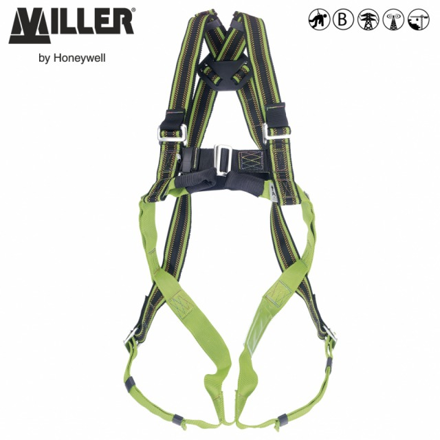 DURAFLEX® MA04              <br/><br/>2 POINT Rear and front anchorage<br/><br/>BENEFITS: Elasticated webbing<br/><br/>• Greater comfort<br/><br/>• Increase durability<br/><br/>FEATURES: Stretch webbing<br/><br/>• DuraFlex® elastomer webbing<br/><br/>• Webbing repels water, oil, grease and dirt<br/><br/>• Manual chest and leg buckles<br/><br/>• Front anchorage soft webbing loops<br/><br/>Ref.                 Size<br/><br/>- 10 028 50 - S<br/><br/>- 10 028 49 - M/L<br/><br/>Available with QCB<br/><br/>- 10 076 11 - M/L<br/><br/>- 10 076 12 - XL<br/><br/>Conforms to EN361