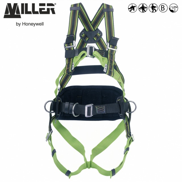DURAFLEX MA60        <br/><br/>The choice for greater mobility and extreme comfort<br/><br/>3 POINT + workpositioning<br/><br/>Rear and front anchorage with dorsal, sternal, ventral and workpositioning side anchorage with belt<br/><br/>BENEFITS: Elasticated webbing<br/><br/>• Greater comfort<br/><br/>• Increase durability<br/><br/>FEATURES: Stretch webbing<br/><br/>• DuraFlex® elastomer webbing<br/><br/>• Front anchorage webbing loops<br/><br/>• Webbing repels water, oil, grease and dirt<br/><br/>• Work positioning belt with 2 side D-rings<br/><br/>• Manual buckles<br/><br/>Ref.                   Size<br/><br/>- 10 051 37 - S<br/><br/>- 10 051 36 - M/L<br/><br/>Available with QCB<br/><br/>- 10 124 63 - S<br/><br/>- 10 124 62  - M/L<br/><br/>Conforms to EN361 and EN358<br/><br/>• Automatic buckles<br/><br/>• Padded legstraps<br/><br/>Ref.                    Size<br/><br/>- 10 310 00 - XS<br/><br/>- 10 310 01 - S/M<br/><br/>- 10 310 02 - L/XL<br/><br/>- 10 310 03 - XXL