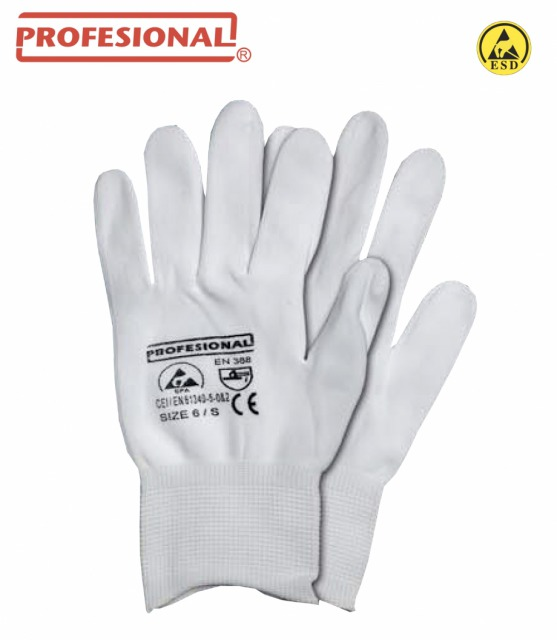 ESD Protective Gloves Aike<br/><br/>Tricot nylon ESD.